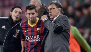Messi recibe indicaciones de Martino en la Liga 2013-14
