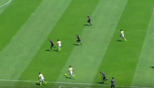 La jugada de Oribe y Alcoba en el gol de América
