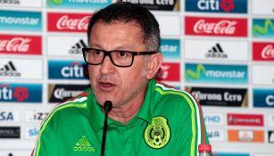Osorio, durante la conferencia de prensa del Tri