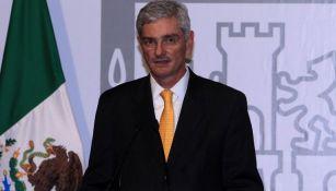 Arturo Olivé, en la presentación del juego Texans vs Raiders