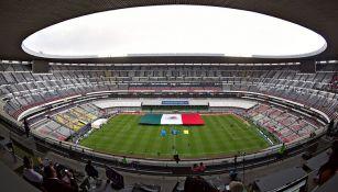 Vista del Estadio Azteca durante el juego entre el Tri y Costa Rica