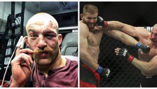 Patrick Cummins en su pelea de UFC 210