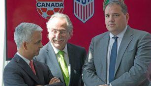 Presidentes de las Federaciones de EU, México y Canadá presentan candidatura