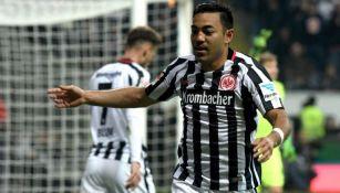 Fabián festeja su anotación contra el Werder Bremen