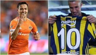 Cubo Torres del Dynamo y Van Persie del Fenerbahçe