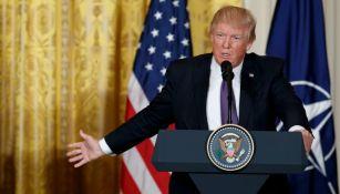 Donald Trump durante un conferencia en la Casa Blanca