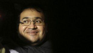 Javier Duarte sonríe después de haber sido capturado en Guatema