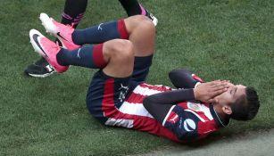 Zaldívar se duele en la Final de la Copa MX contra Monarcas