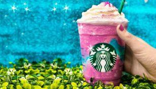 Imagen promocional del Frapuccino unicornio