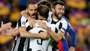 Jugadores de la Juventus celebran el pase a las Semifinales