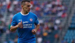 Chaco Giménez durante un partido de Cruz Azul