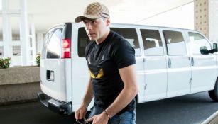 Pablo Aguilar, previo a que tomara su vuelo rumbo a Europa