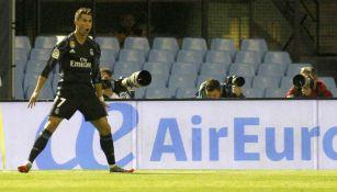 Cristiano Ronaldo festeja el gol contra el Celta de Vigo