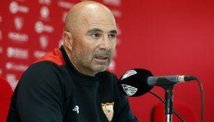 Sampaoli, en conferencia de prensa
