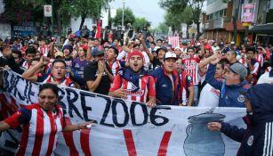 Afición de Chivas en previo al juego vs Toluca