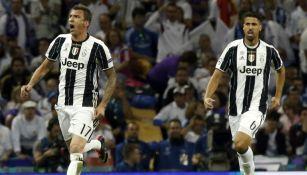Mandzukic festeja el gol frente al Real Madrid en la Final de la Champions