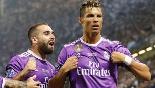 CR7 celebra una anotación con el Real Madrid