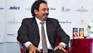 Hugó Sánchez, en la conferencia de la Fundación Real Madrid