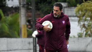Matosas en un entrenamiento con Cerro Porteño