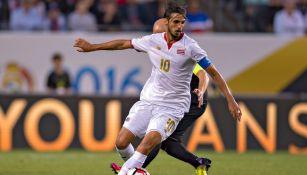 Bryan Ruiz, en un partido con la selección de Costa Rica