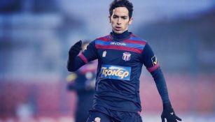 Pedro Arce, durante un partido con Veria FC