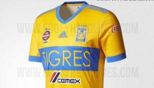 Supuesta playera de Tigres para el Apertura 2017