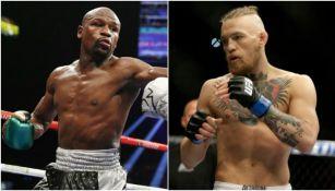 Mayweather y McGregor en sus respectivas peleas