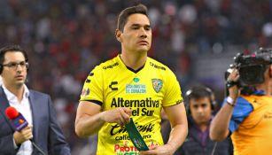 Moisés Muñoz después de un partido con Jaguares