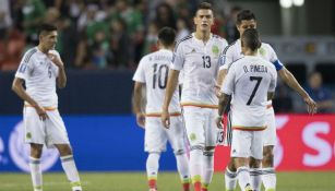Jugadores de México tras el empate contra Jamaica
