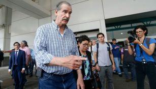 Vicente Fox llega al aeropuerto de Caracas, Venezuela