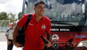 Maza Rodríguez llega con Lobos BUAP al estadio