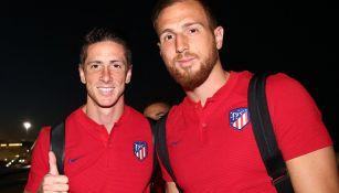 Torres y Oblak, minutos antes de arribar a México