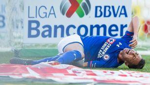 Martín Rodríguez grita tras sufrir la lesión contra Xolos
