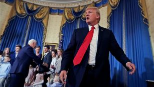 Donald Trump, en el evento en el que le negó el saludo a un niño