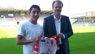 Omar Govea es presentado como nuevo jugador de Mouscron