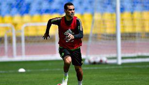 Márquez, en un entrenamiento con el Tri