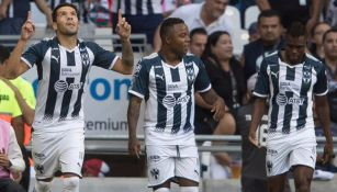 Celso Ortíz (izq) festeja su gol con Rayados