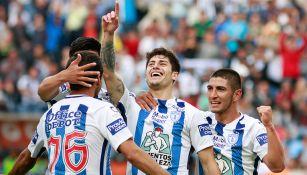 Ángelo Sagal festeja su gol