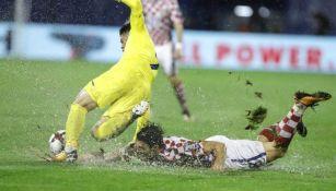 La lluvia no permitió el desarrollo del encuentro de Croacia contra Kosovo