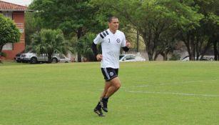 Verón, durante un entrenamiento con el Olimpia de Paraguay