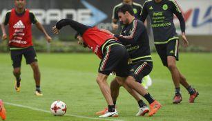 Los jugadores de la Selección Mexicana durante una práctica