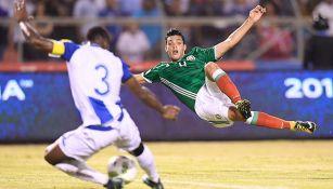 Jiménez en el partido contra Honduras