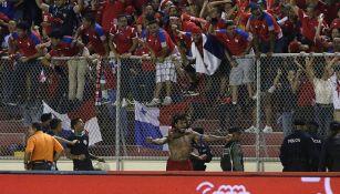Torres festeja el tanto del histórico pase