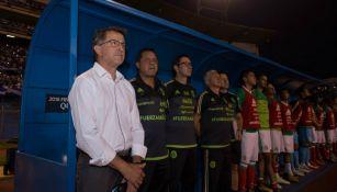 Juan Carlos Osorio durante el encuentro frente a Honduras