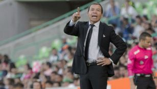 José Guadalupe Cruz, durante un partido frente a Santos