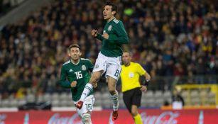 Lozano festeja su golazo contra Bélgica