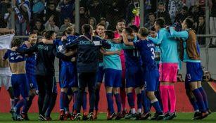 Selección de Croacia celebra su pase a Rusia 2018