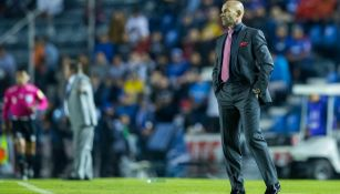 Paco Jémez, durante el juego de Ida contra América