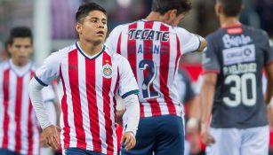 Chofis se lamenta en juego con Chivas