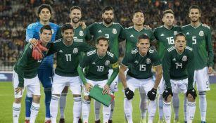 Selección Mexicana previo al partido contra Bélgica